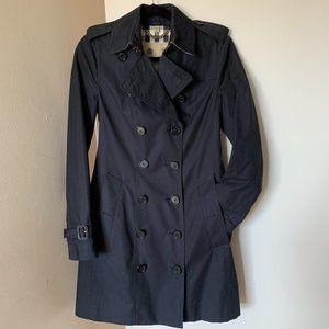 Burberry Sandringham mid-length trench coat navy
